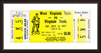 1977 Virginia Tech vs. West Virginia Picture Frame print