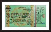 1967 West Virginia vs. Pitt Picture Frame print