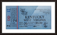 1967 Kentucky vs. West Virginia Picture Frame print