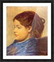 Portrait of Mademoiselle Dobigny by Degas Picture Frame print