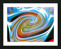 WORLD WIND Picture Frame print