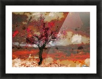 Summer cherry tree Picture Frame print