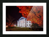 Courthouse Autumn Night Picture Frame print