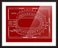 1957 camp randall map art Picture Frame print