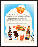 1962 Otis Shepard Concessions Ad Picture Frame print