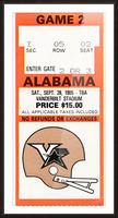 1985 Alabama vs. Vanderbilt Picture Frame print
