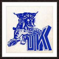 1970s kentucky wildcat Picture Frame print