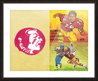 1975 Florida State Football Art Picture Frame print