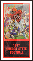 1977 Oregon State Football Art Picture Frame print