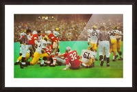 Ohio State vs. Michigan Football Art Picture Frame print