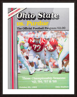 1982 Ohio State vs. Purdue Program Cover Art Picture Frame print