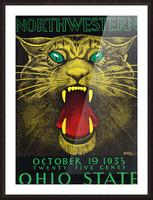 1935 Northwestern vs. Ohio State Picture Frame print
