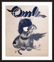 1933  Rice Owls Football Picture Frame print