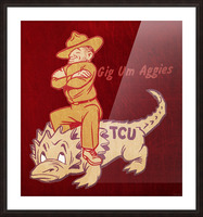 Vintage Texas A&M Ol Sarge TCU Picture Frame print