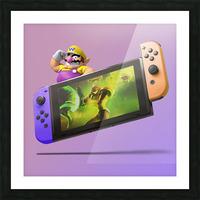 Nintendo Switch Wario Picture Frame print