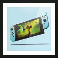 Nintendo Switch Blue Picture Frame print