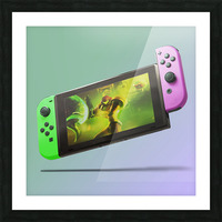 Nintendo Switch Green Pink Picture Frame print