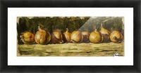 Kitchen Still Life with golden bow Picture Frame print