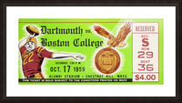 1959 Boston College vs. Dartmouth Picture Frame print