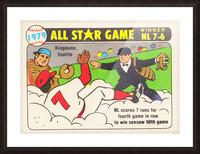 1979 All Star Game Baseball Art Picture Frame print