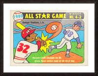 1980 Baseball All Star Game Art Picture Frame print