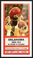 1984 Oklahoma Sooners Football Ticket Wall Art Picture Frame print