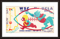 1958 UCLA vs. Washington State Picture Frame print