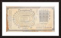 1933 LA Coliseum Map Art Picture Frame print