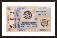1948 Washington State vs. Penn State Picture Frame print