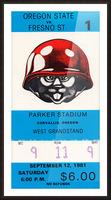 1981 Oregon State vs. Fresno State Picture Frame print