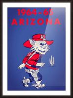 1964 Arizona Wildcat Art Picture Frame print