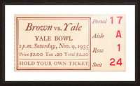 1935 Brown vs. Yale Picture Frame print
