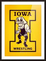 Vintage Iowa Wrestling Art Picture Frame print