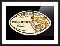1965 Missouri Tiger Football Art Picture Frame print