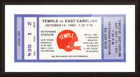 1983 Temple vs. East Carolina Picture Frame print