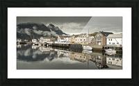 Fishing village, Lofoten, Norway Picture Frame print