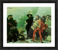 Luther verbrennt die Papstbulle Picture Frame print