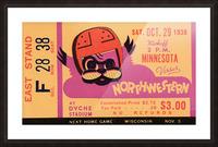 1938 Northwestern vs. Minnesota Picture Frame print
