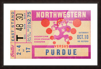 1942 Northwestern vs. Purdue Picture Frame print