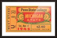 1945 Michigan State vs. Penn State Picture Frame print