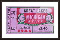 1945 Great Lakes vs. Michigan State Picture Frame print