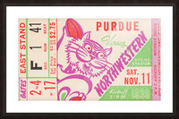 1939 Purdue vs. Northwestern Picture Frame print