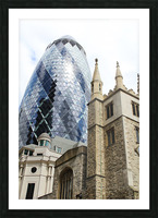 London old and new Picture Frame print