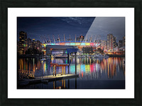 Colorful BC Place Picture Frame print