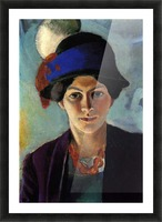 Portrait of the wife of the artist with a hat by Macke Impression et Cadre photo