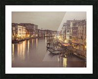 The Grand canal at dusk, Venice, Italy Picture Frame print