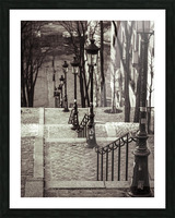 The famous staircase in Montmartre, Paris, France Picture Frame print