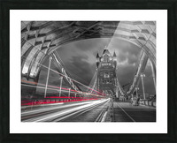 Tower bridge with strip lights, London, UK Picture Frame print