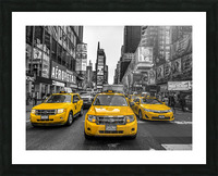 Taxi on broadway, New York Picture Frame print