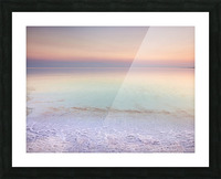 Dead sea shore at dusk, Israel Picture Frame print